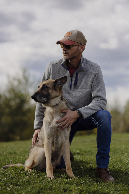 "Jason Hagg is the CEO and one of three founders of Leashes of Valor, a nonprofit organization based in Virginia that provides service dogs to veterans living with PTSD and traumatic brain injuries. Hagg is a veteran who's experienced symptoms of PTSD. He sought a service dog in 2012 after a slew of failed treatments. Having his German Shepherd, Axel, by his side hasn't been ""all peaches and cream,"" but he credits Axel with saving his life."